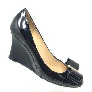 Kate Spade METRO Black Wedge Heel Shoe SIZE 7.5 B